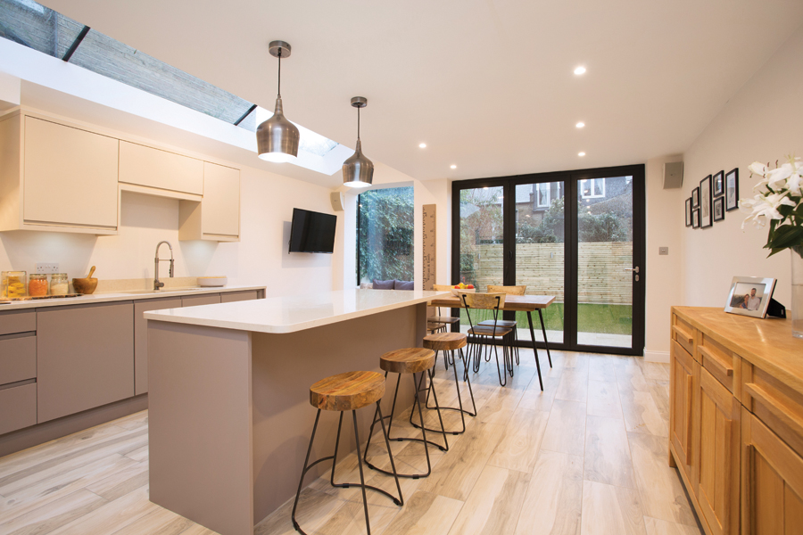 I Build Why One Family Added A Side Return With A Pitched Roof And Large Skylight Onto Their Home