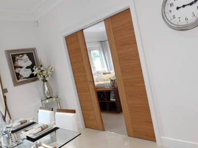 Quick fit pocket door systems