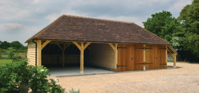 Oak Framed Garage Kits by Round Wood of Mayfield