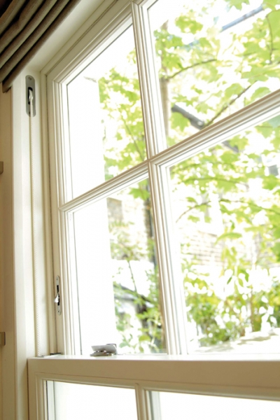 Lowest U-value on the market for Lomax + Wood's timber sliding sash windows
