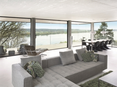Ultra slim profiles feature on new, sleek Reynaers Hi-Finity sliding system