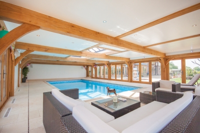 Oak framed swimming pool buildings: the ultimate luxury extension to your house